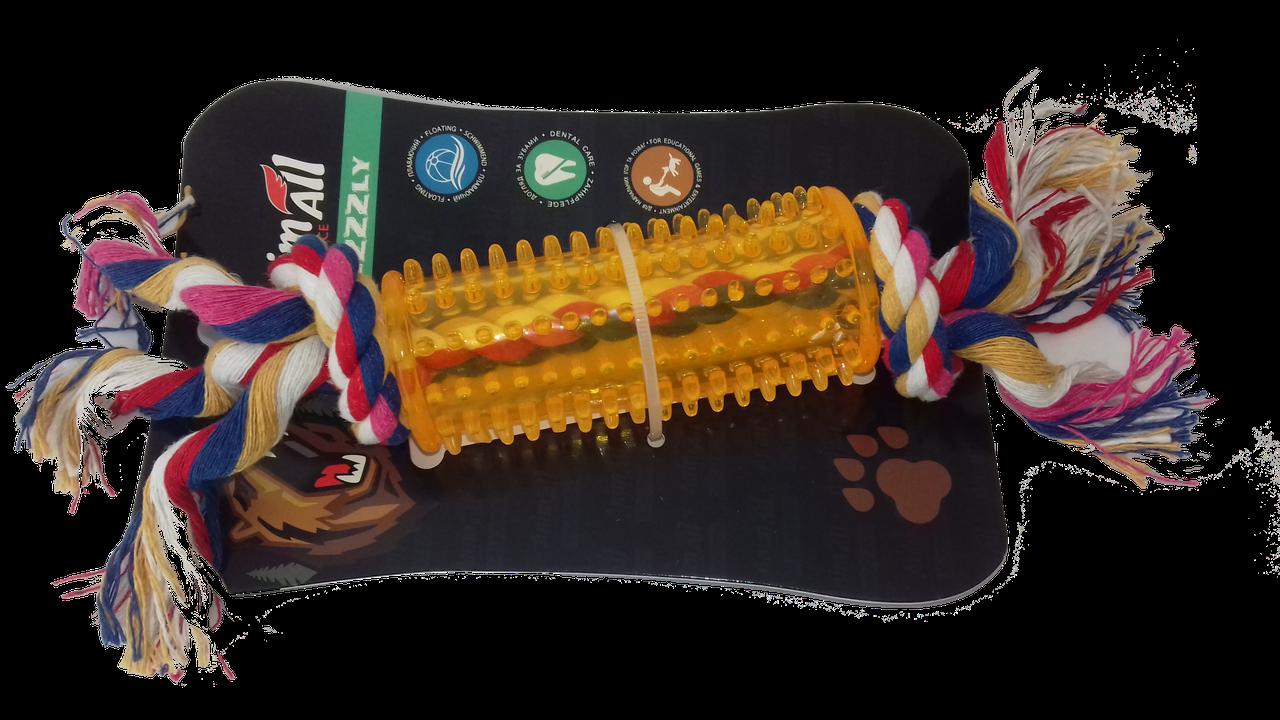 Іграшка AnimAll GrizZzly дентал з канатом тунель 25х4см