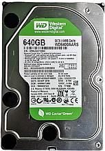 Жесткий диск HDD 640GB 32MB SATA II 3.5 WD Green WD6400AARS WMAZA0712893