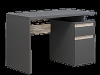 Комп'ютерний стіл Інтарсіо Kubik 1200х776 мм Антрацит + дуб клондайк (KUBIK_R)