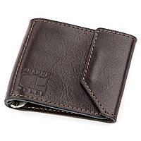 Затиск для грошей GRANDE PELLE 11150 Темно-коричневий, фото 1