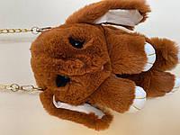 "Хутрова іграшка-сумочка ""Зайчик з лапками"" для найменших"