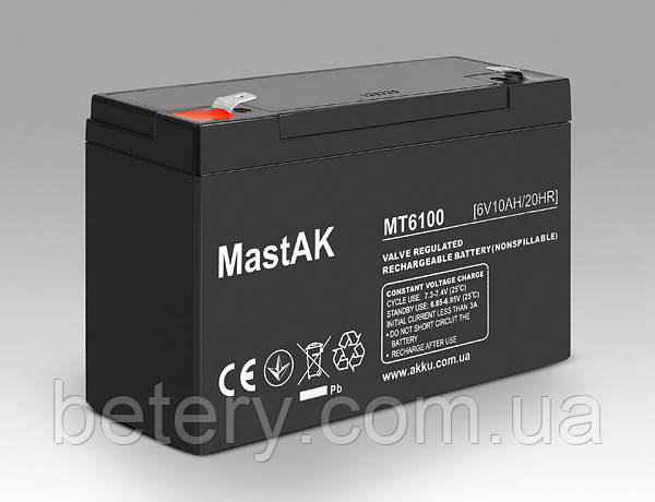 Аккумулятор MastAK MT6100( 6v 10Ah)