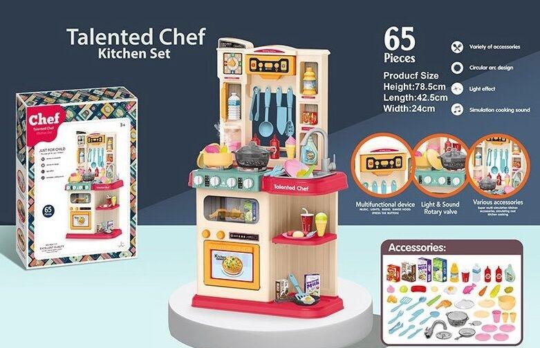 Кухня 922-113  67 деталей, подсветка, звук, мелодии, идет пар