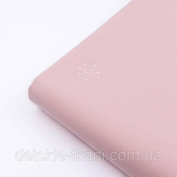 Лоскут поплина , цвет розового облака (№3196), размер 38*120 см