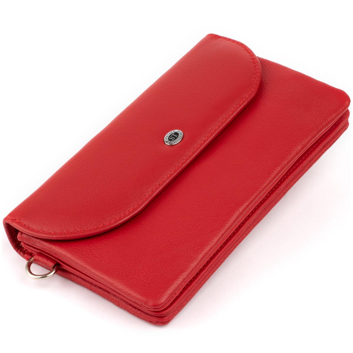 Клатч жіночий зі шкіри ST Leather 19321 Червоний