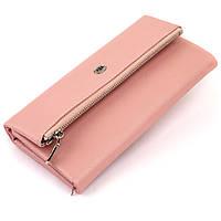 Клатч конверт з кишенею для мобільного шкіряний жіночий ST Leather 19271 Рожевий, фото 1