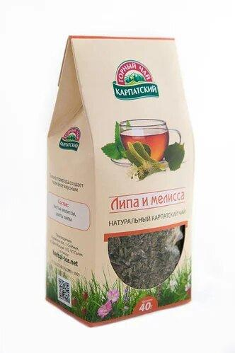 Фіточай Липа і меліса, 40г Карпатський гірський чай ТМ Карпатський чай