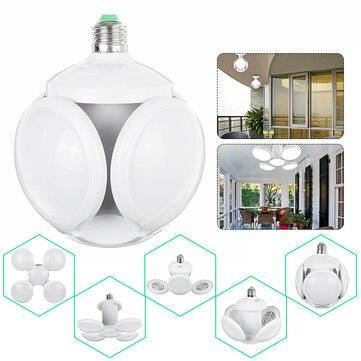 Лампочка люстра світлодіодна розкладна LED лампа 40Вт 220В E27 Football UFO Lamp new bubble