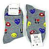 Шкарпетки жіночі з принтом сердечка кольору в ассорт. 37-42 р., фото 5