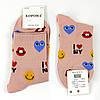 Шкарпетки жіночі з принтом сердечка кольору в ассорт. 37-42 р., фото 4
