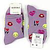 Шкарпетки жіночі з принтом сердечка кольору в ассорт. 37-42 р., фото 3