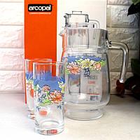 Кувшин со стаканами в подарочной упаковке Florine Arcopal 7пр (N3215)