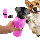 Дорожня поїлка - пляшка для собак Aqua Dog Аква Дог 550 мл, фото 2
