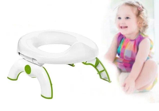 Детский дорожный горшок-туалет Oxo Tot 2-in-1 Go Potty салатовый с белым | НАКЛАДКА НА УНИТАЗ