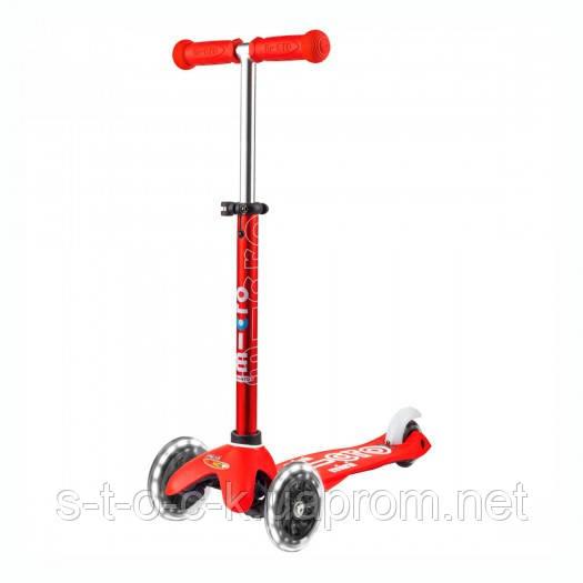 Самокат Micro серії Mini Deluxe - Червоний (LED) для дітей дошкільного віку (від 2 до 5 років)