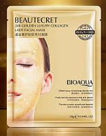 Гидрогелевая маска-патч с коллагеном и золотом bioaqua beautecret 24k golden collagen 28г BIOAQUA