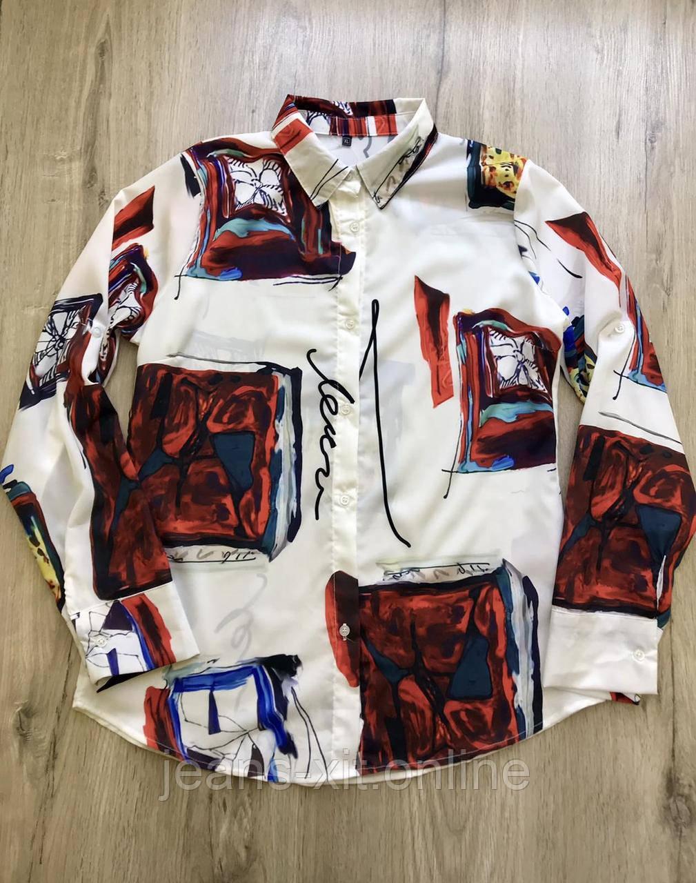 Рубашка Жін. L(р) білий 181149 Туреччина Весна-D