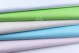 """Лоскут ткани """"Пунктирный горошек"""" белый на салатовом (№1921), размер 54*54 см, фото 3"""