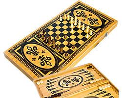 Игровой набор В6030С 3в1 нарды шахматы и шашки (59х59см)