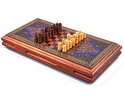 Игровой набор XLY-730 3в1 нарды шахматы и шашки (32х32 см)