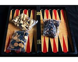 Игровой набор №8309 3в1 нарды шахматы и шашки (29х29 см)