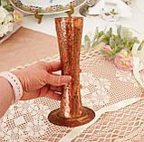 Старая медная ваза ручной работы, ваза из меди, Германия, 20 см, фото 6