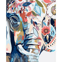 """Картина по номерам. Животные, птицы """"Восточные краски"""" KHO2470, 40х50 см"""