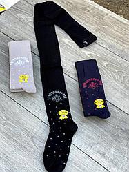 Дитячі колготи бавовна KBS принтом бантик для дівчаток 5,7 років 6 шт. в уп. мікс кольорів