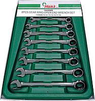 Набор ключей трещеточных 8-19 мм, 8 пр. в ложем. 16658MB HANS