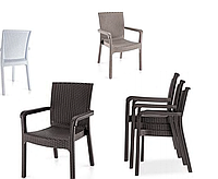"""Кресло """"Markiz"""" Irak Plastik, искусственный ротанг Турция, белый"""