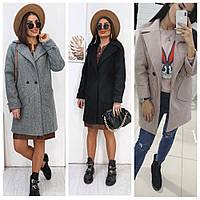 Пальто в стиле Шанель, подчеркивает красоту и элегантность осень-весна, разные цвета р.42-44,46-48 1017L