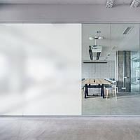 Поклейка пленки для умного стекла. Стекло с переменной прозрачностью.