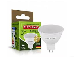 Точкова світлодіодна EUROLAMP Лампа EKO MR16 3W GU5.3 3000K