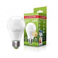 Светодиодная EUROELECTRIC Лампа A60 12W E27 4000K