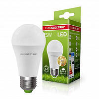 Светодиодная EUROELECTRIC Лампа A60 15W E27 4000K