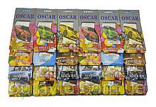 Ароматизатори в авто подвійна капсула на дзеркало! Oscar Premium Fruit ОПТОМ. Планшет 24 штук різні аромати