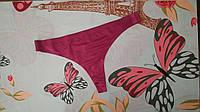 Жіночі труси стрінги. Однотонні big size. Бордо, фото 1