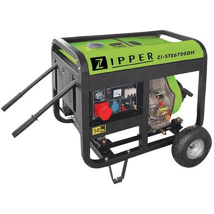 Дизельний генератор Zipper ZI-STE6700DH, фото 2
