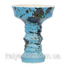 Чаша Fog Sakura Full-Glazed Голубой с черным