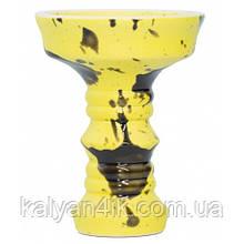Чаша Fog Sakura Full-Glazed Желтый с черным