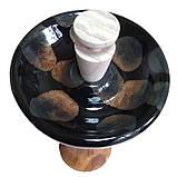 >Пробка (заглушка) для чаши кальяна фанел черная , фото 2