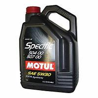 Синтетическое моторное масло Motul (Мотюль) Specific 504.00-507.00  5W-30 5л.