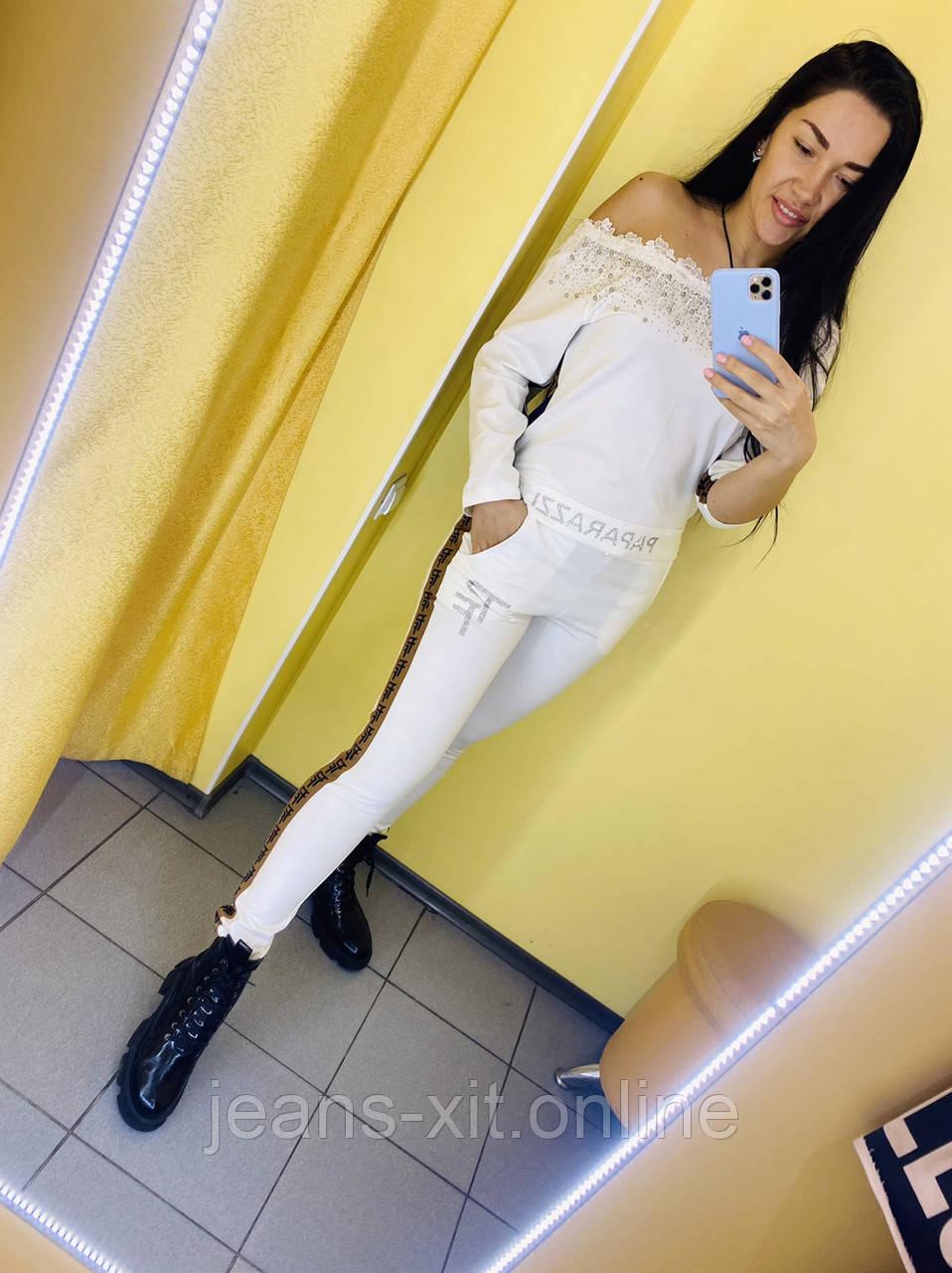 Fashion костюм Жін. 1(р) білий 7562 Paparazzi Туреччина Весна-C