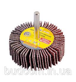Круг шлифовальный лепестковый зерно 40, 60*20 мм со стержнем 6 мм MASTERTOOL 08-2264