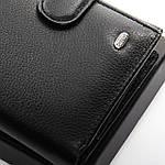Гаманець портмоне маленький чоловічий шкіряний DR. BOND чорний (05-131), фото 4