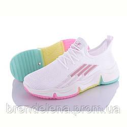 Женские кроссовки белые р36-41( код 0912-00)