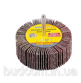 Круг шлифовальный лепестковый зерно 80, 80*30 мм со стержнем 6 мм MASTERTOOL 08-2288