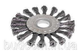 Щітка дискова D115 з батоги. дроту отв. 22,2 мм MASTERTOOL 19-9011