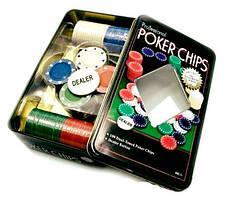 Набір Для Покеру на 100 фішок в Металевому Боксі