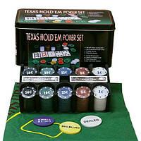 Набір Для Покеру на 200 фішок і Ігровим Сукном